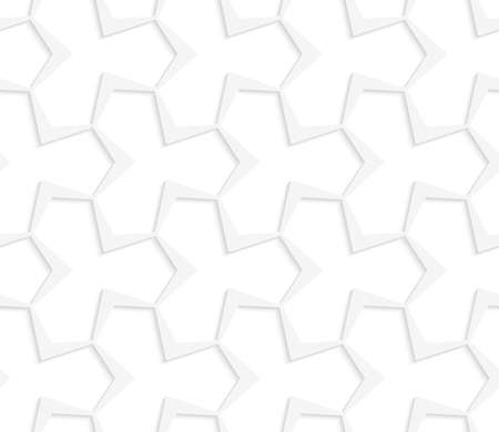 grid paper: Seamless geometric background. Pattern with realistic shadow and cut out of paper effect.White 3d paper.3D white abstract pointy tetrapod grid.