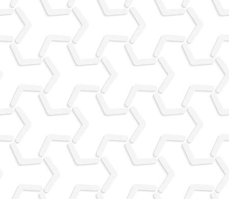 Seamless geometric background. Pattern with realistic shadow and cut out of paper effect.White 3d paper.3D white abstract tetrapod grid.