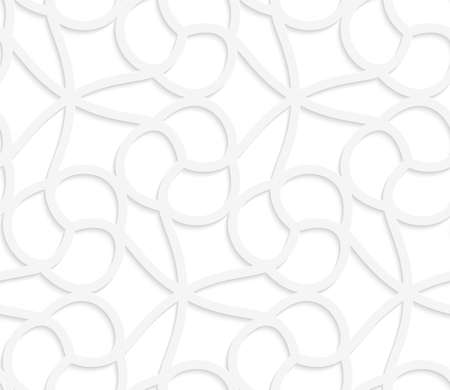 perforated: Seamless geometric background. Pattern with realistic shadow and cut out of paper effect.White 3d paper.3D white floral with cherries.