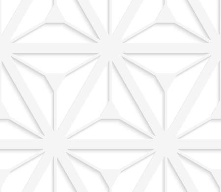 grid paper: Seamless geometric background. Pattern with realistic shadow and cut out of paper effect.White 3d paper.3D white grid with six ray stars.