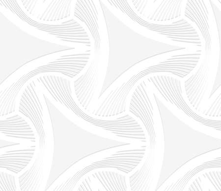 puckered: Seamless geometric background. Pattern with realistic shadow and cut out of paper effect.White 3d paper.3D white puckered triangles with striped offset. Illustration