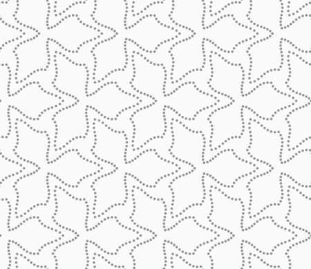 pedals: Seamless stylish dotted geometric background. Modern abstract pattern made with dotts. Flat monochrome design.Gray dotted flowers three pedals.
