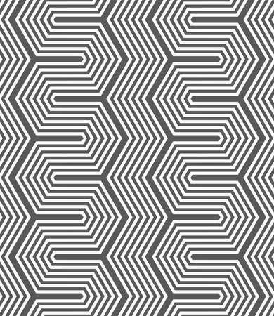 tile pattern: Seamless geometric pattern. Gray abstract geometrical design. Flat monochrome design.Monochrome dark hexagonal zigzag.