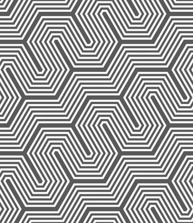 tillable: Seamless geometric pattern. Gray abstract geometrical design. Flat monochrome design.Monochrome diagonal hexagonal fence. Illustration
