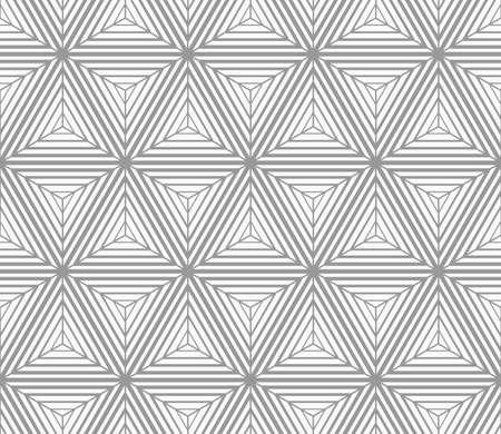 gradually: Seamless geometric pattern. Gray abstract geometrical design. Flat monochrome design.Monochrome gradually striped cubes.