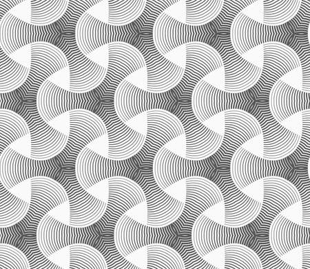 tile pattern: Seamless geometric pattern. Gray abstract geometrical design. Flat monochrome design.Monochrome gradually striped tetrapods.