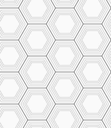 tillable: Seamless geometric pattern. Gray abstract geometrical design. Flat monochrome design.Monochrome hexagons.