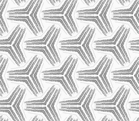 Seamless Geometric Pattern. Gray Abstract Geometrical Design. Flat  Monochrome Design.Monochrome Rough Striped