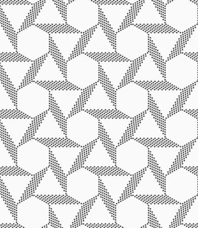grid pattern: Seamless geometric pattern. Gray abstract geometrical design. Flat monochrome design.Monochrome striped blocks forming triangles and hexagons.