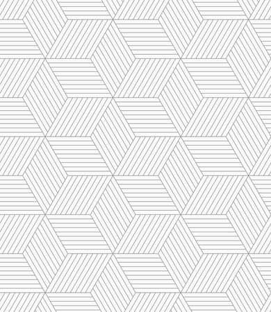 추상적 인 기하학적 배경입니다. 원활한 평면 단색 패턴. 간단한 design.Slim 회색 큐브를 부화. 일러스트