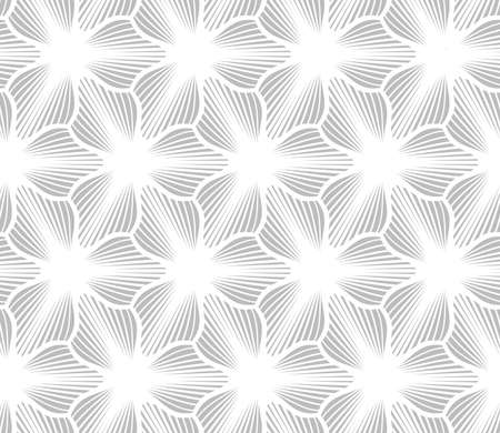 hatched: Abstract geometric background. Seamless flat monochrome pattern. Simple design.Slim gray hatched trefoils.