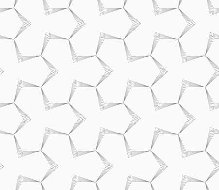 pointy: Abstract geometric background. Seamless flat monochrome pattern. Simple design.Slim gray pointy tetrapods with striped bevel. Illustration