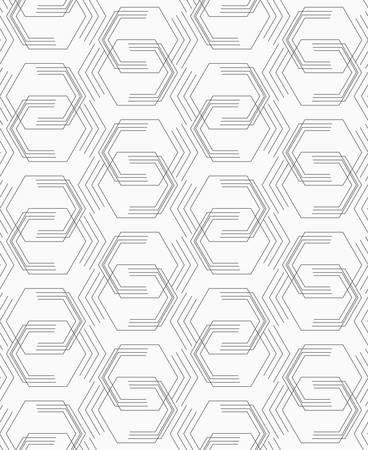tillable: Abstract geometrical pattern. Modern monochrome background.Flat gray with broken hexagons.