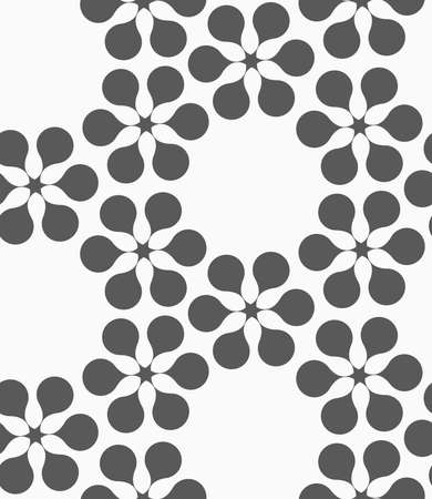 Abstract geometrical pattern. Modern monochrome background.Flat gray with flower forming grid.