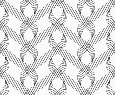 hatched: Abstract geometrical pattern. Modern monochrome background.Flat gray with hatched overlapping integrals.