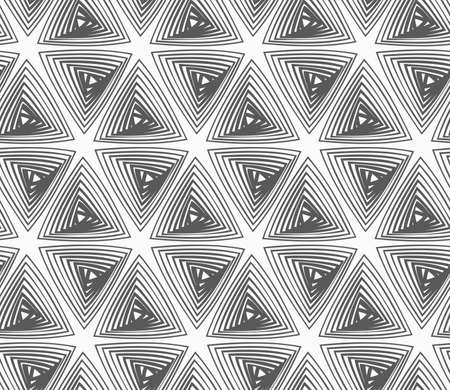 hatched: Abstract geometrical pattern. Modern monochrome background.Flat gray with hatched triangles.