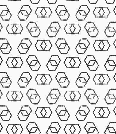 hexagonal shaped: Abstract geometrical pattern. Modern monochrome background.Flat gray with hexagonal infinity shaped.
