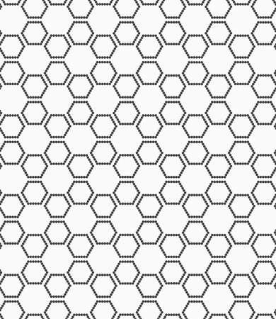 Abstract geometrisch patroon. Moderne zwart-wit achtergrond. Vlakke grijs met zeshoekige sterren.
