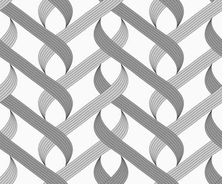 Abstract geometrical pattern. Modern monochrome background.Flat gray with shaded overlapping integrals.