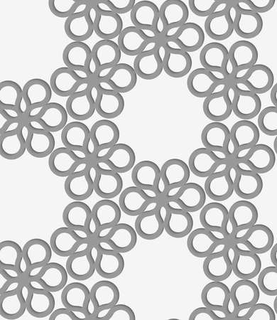 perforated: Stylish 3d pattern. Background with paper like perforated effect. Geometric design.Perforated paper with floral reticulated tile.