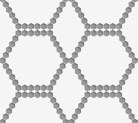 perforated: Stylish 3d pattern. Background with paper like perforated effect. Geometric design.Perforated paper with hexagons forming hexagons.