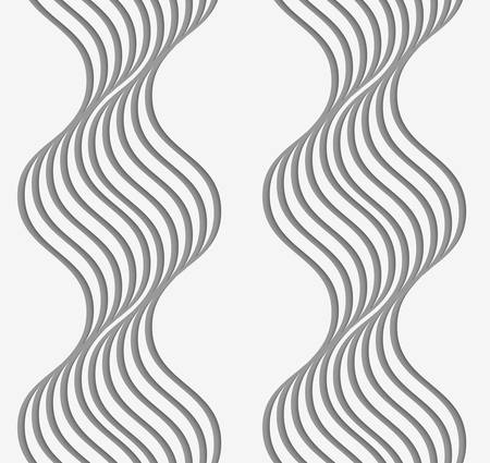 perforated: Stylish 3d pattern. Background with paper like perforated effect. Geometric design.Perforated paper with wavy stripes. Illustration