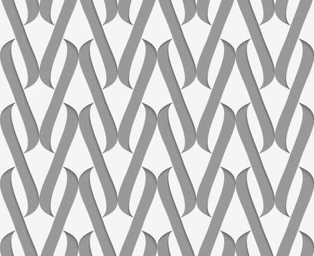 perforated: Stylish 3d pattern. Background with paper like perforated effect. Geometric design.Perforated paper with thick integrals. Illustration