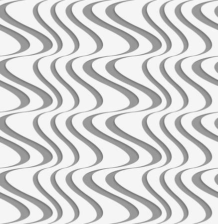 perforated: Stylish 3d pattern. Background with paper like perforated effect. Geometric design.Perforated paper with vertical uneven waves. Illustration