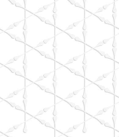 ritagliare: Picchiettio senza giunte con ritagliate club bianco di carta che formano triangoli.