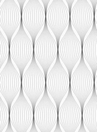 stripe background: Monochrome abstract geometrical pattern. Gray striped connected ovals.