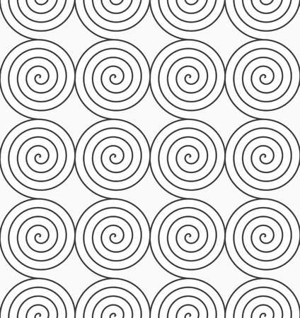 geometrical pattern: Monochrome abstract geometrical pattern. Gray Archimedean spirals.