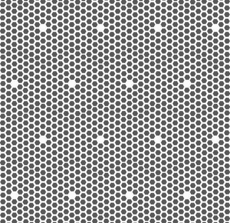 tillable: Monochrome abstract geometrical pattern. Gray small hexagons forming mosaic. Stock Photo
