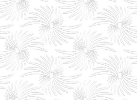 Nahtloses Muster Mit Ausgeschnitten Papier Weiß Clubs In Der Zeile ...