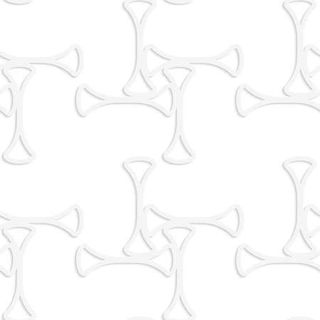ritagliare: Seamless pattern con ritagliate club bianco di carta che formano croce. Archivio Fotografico