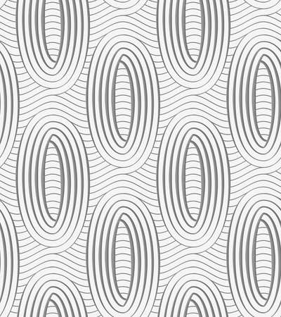 perforated: Modern seamless pattern. Geometric background with Perforated ovals on continues lines.
