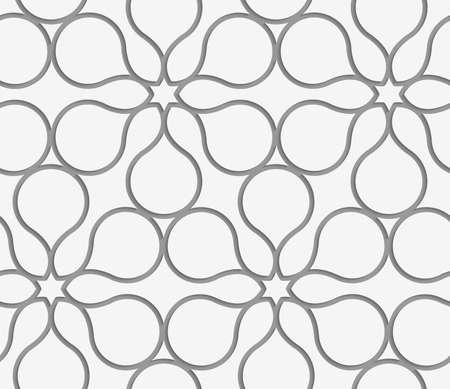 perforated: Modern seamless pattern. Geometric background with Perforated flower contour.