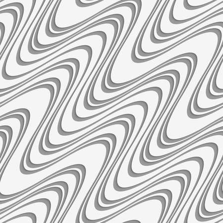 perforated: Modern seamless pattern. Geometric background with Perforated diagonal uneven waves. Illustration
