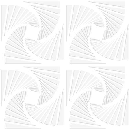 cut out paper: Seamless pattern with cut out paper effect. Realistic shadow creates 3D modern texture.Paper white squares split and swirled. Illustration