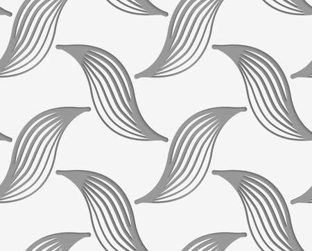 perforated: Modern seamless pattern. Geometric background with Perforated striped birds. Illustration