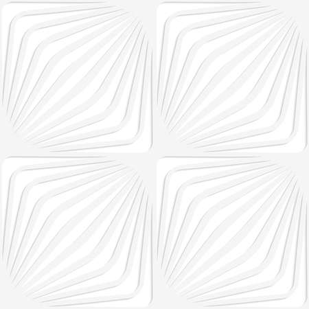 Seamless pattern with cut out Paper white diagonally striped squares.