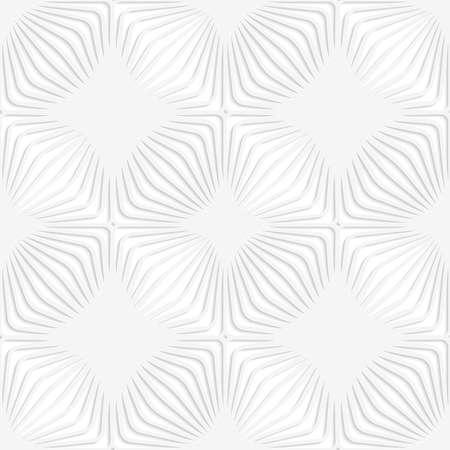 ritagliare: Picchiettio senza giunte con ritagliate strisce traforate bianche di carta formando quadrati. Vettoriali