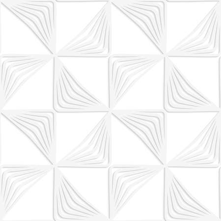 cut out paper: Seamless patter with cut out Paper white striped rotated triangles. Illustration