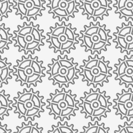 perforated: Modern seamless pattern of Perforated complex gears. Illustration