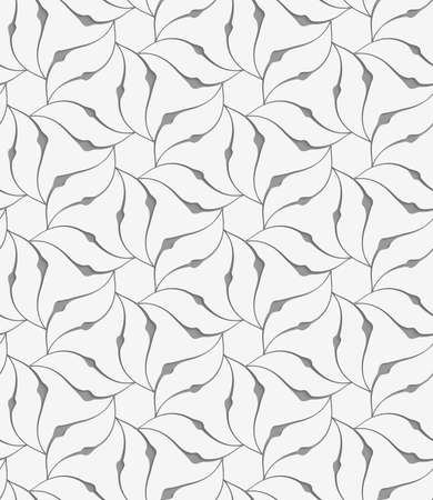 perforated: Modern seamless pattern of Perforated floral leafy shapes flower.
