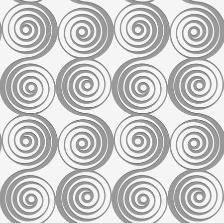 perforated: Modern seamless pattern of Perforated merging spirals.