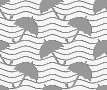 Modern seamless pattern of Perforated umbrellas. Illustration