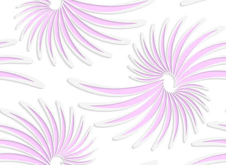 tillable: Abstract seamless background with 3D cut out of White colored paper floral pink daisy flowers.