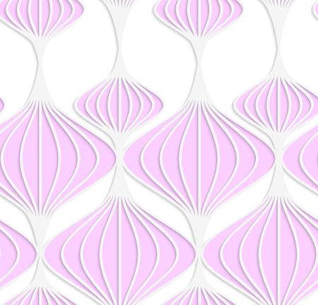 ritagliare: Astratto sfondo trasparente con 3D tagliato fuori di White carta colorata rosa Lanterne cinesi.