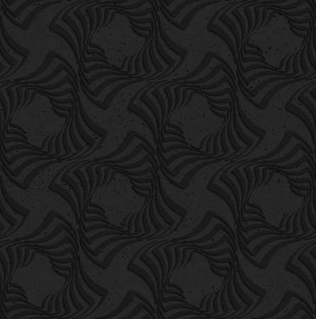 texture twisted: Seamless geometric background. Pattern with 3D texture and realistic shadow.Textured black plastic twisted squares.