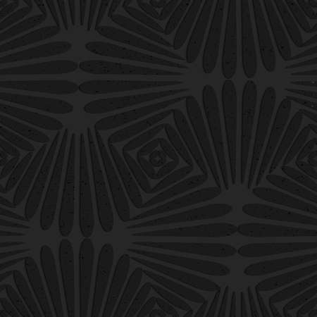Seamless geometric background. Pattern with 3D texture and realistic shadow.Textured black plastic pedals pin will. Ilustração